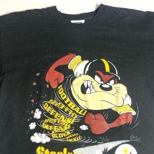 Vintage Taz Sports T-Shirt NFL Pittsburgh Steelers